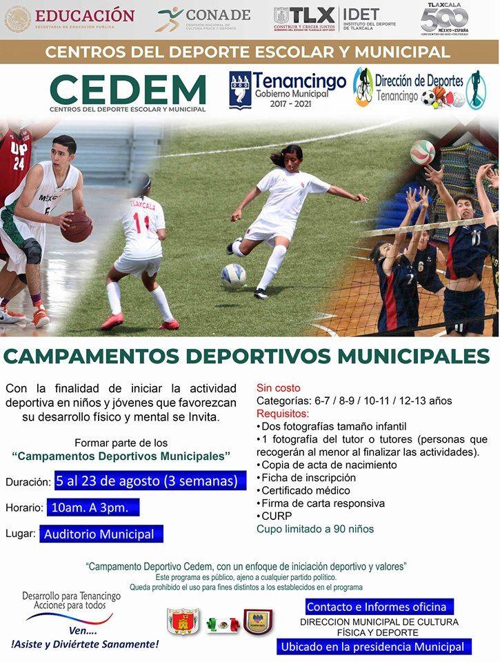 Invitación a campamento deportivo